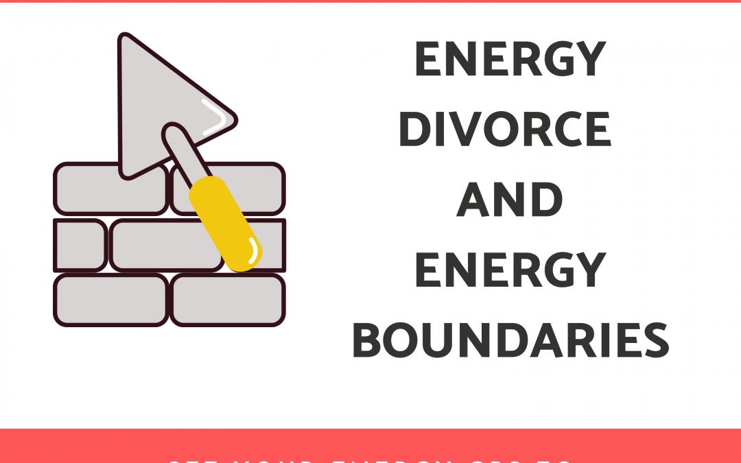 Energy Divorce and Energy Boundaries