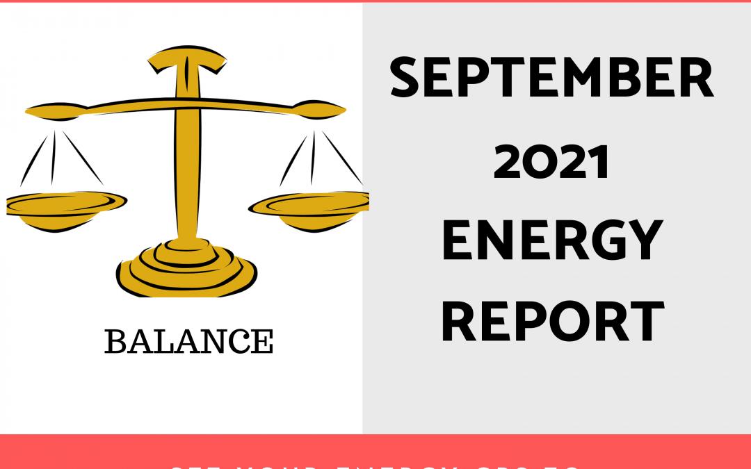 September 2021 Energy Report